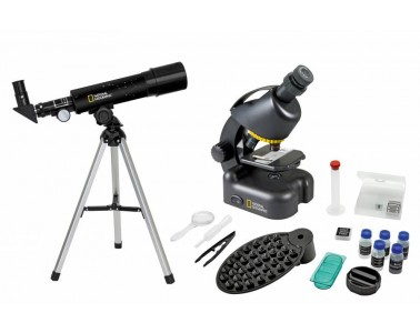 Kit microscopio telescopio National Geographic con maleta 9118200